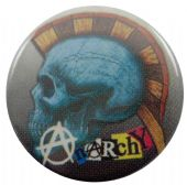 Anarchy - 'Punk Skull' Button Badge